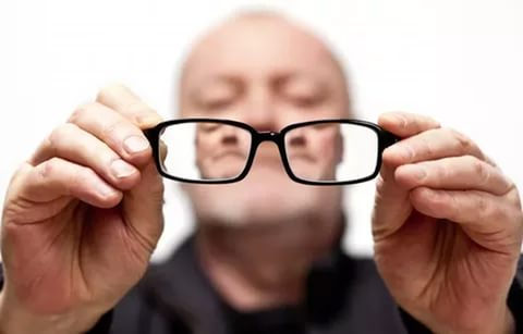 слепой пенсионер